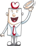 Business vector characters illustrated in the popular outline design trend - a rich collection from GraphicMama - Cartoon Businessman Showing Love