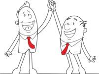 Outline Businessmen Winners