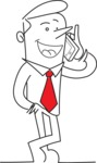 Business vector characters illustrated in the popular outline design trend - a rich collection from GraphicMama - Outline Businessman Talking on the Phone