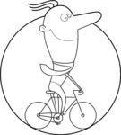 Outline Man on a Bike