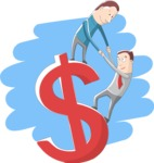 Climbing a Dollar Symbol