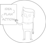Outline Man With a Business Plan