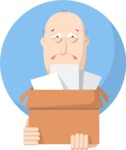 Fired Man Flat Illustration