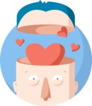 Man With a Heart-Shaped Brain