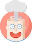 Man with Exploding Head Flat Illustration