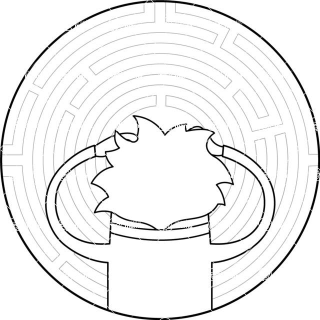 Vector Business Graphics - Mega Bundle - Outline Man at Round Maze
