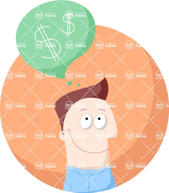 Vector Business Graphics - Mega Bundle - Man Thinking of Money