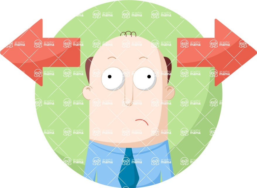 Vector Business Graphics - Mega Bundle - Hesitating Man Flat Illustration