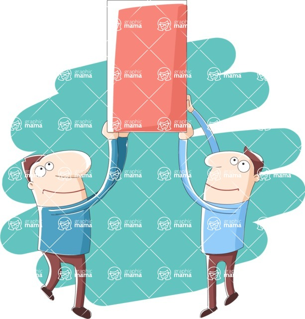 Vector Business Graphics - Mega Bundle - Men Lifting a Box Together