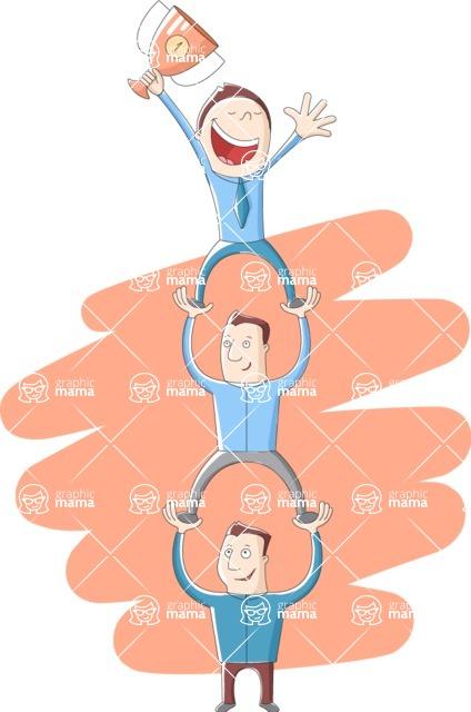 Vector Business Graphics - Mega Bundle - Men Standing on Each Other