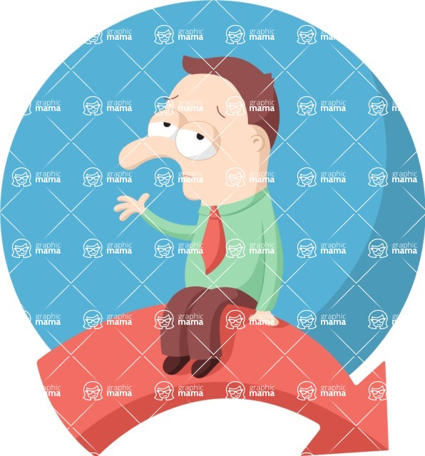 Vector Business Graphics - Mega Bundle - Sad Man Flat Illustration