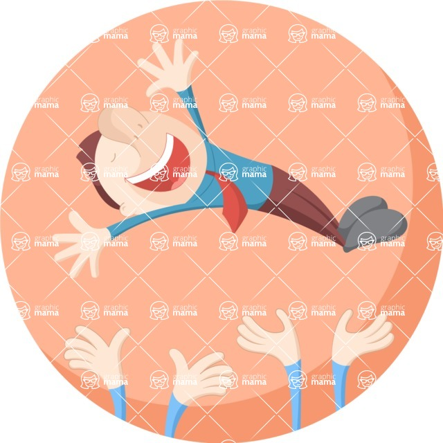 Vector Business Graphics - Mega Bundle - Crowd Throwing Man in Air