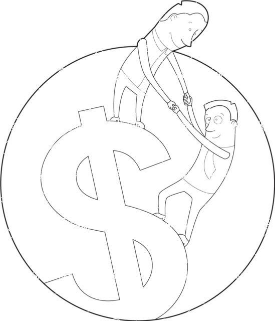 Vector Business Graphics - Mega Bundle - Outline Men on a Dollar Symbol
