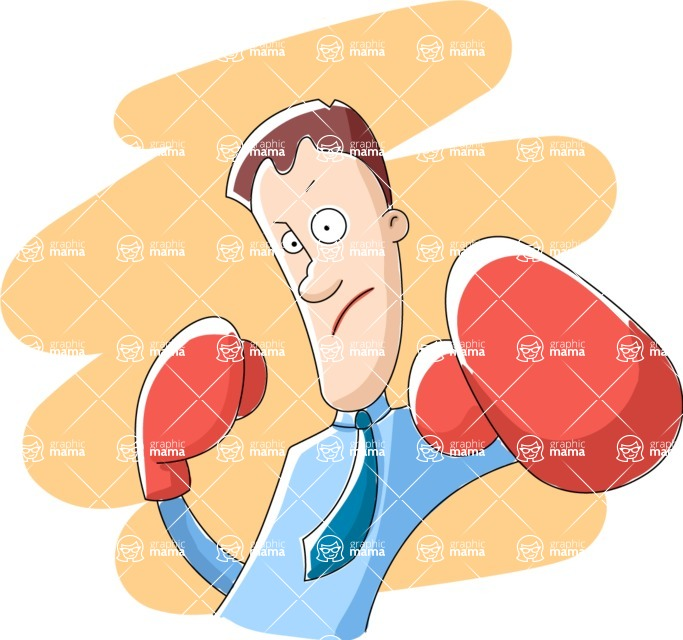 Vector Business Graphics - Mega Bundle - Businessman with Boxing Gloves