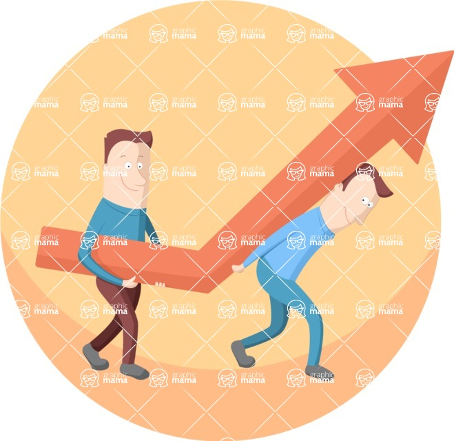 Vector Business Graphics - Mega Bundle - Men Carrying a Heavy Arrow