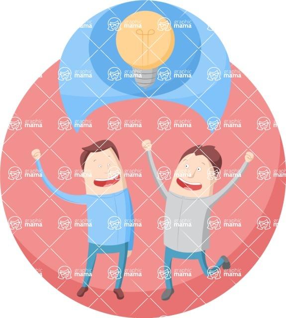 Vector Business Graphics - Mega Bundle - Happy Men Discussing an Idea