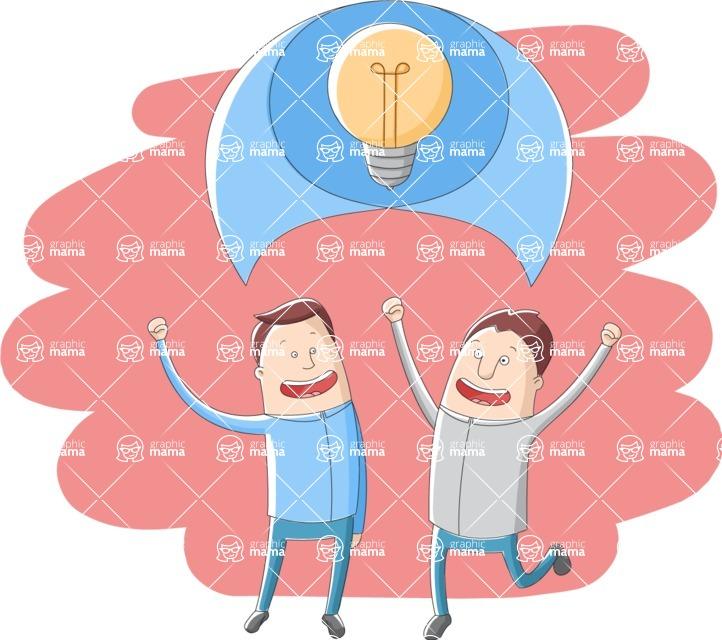 Vector Business Graphics - Mega Bundle - Businessmen Talking About Idea
