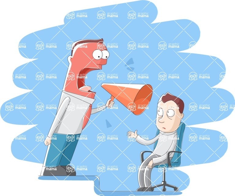 Vector Business Graphics - Mega Bundle - Boss Being Mad With Employee