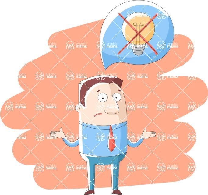 Vector Business Graphics - Mega Bundle - Businessman With No Ideas
