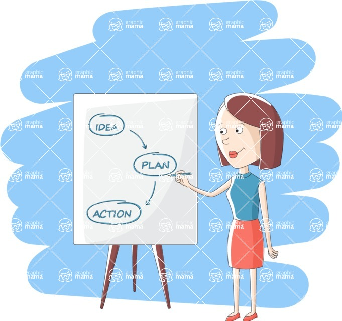 Vector Business Graphics - Mega Bundle - Woman Presenting a Business Plan