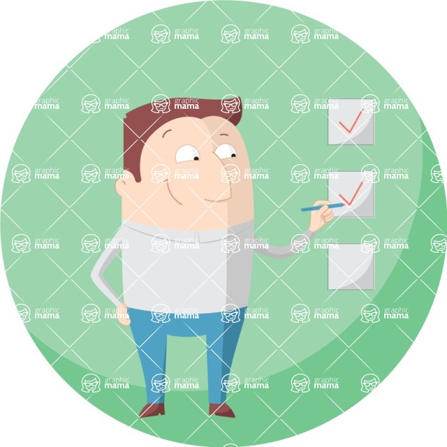 Vector Business Graphics - Mega Bundle - Man With a Check List