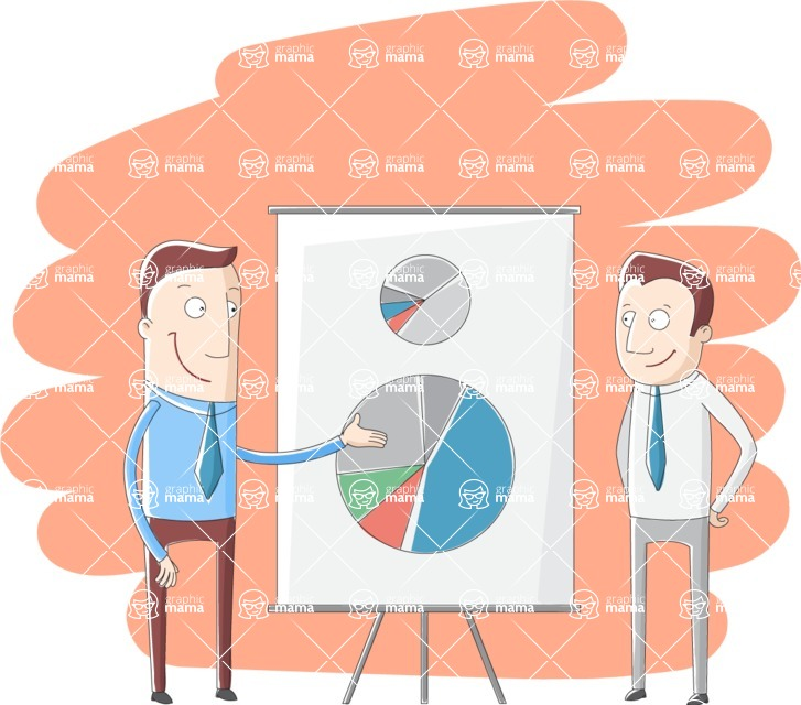 Vector Business Graphics - Mega Bundle - Businessmen Presenting Charts and Statistics
