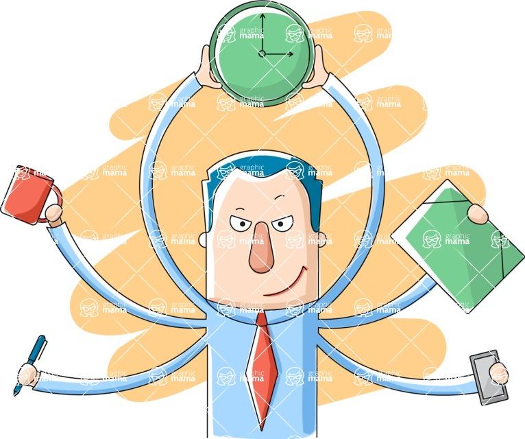 Vector Business Graphics - Mega Bundle - Businessman Multiple Tasks