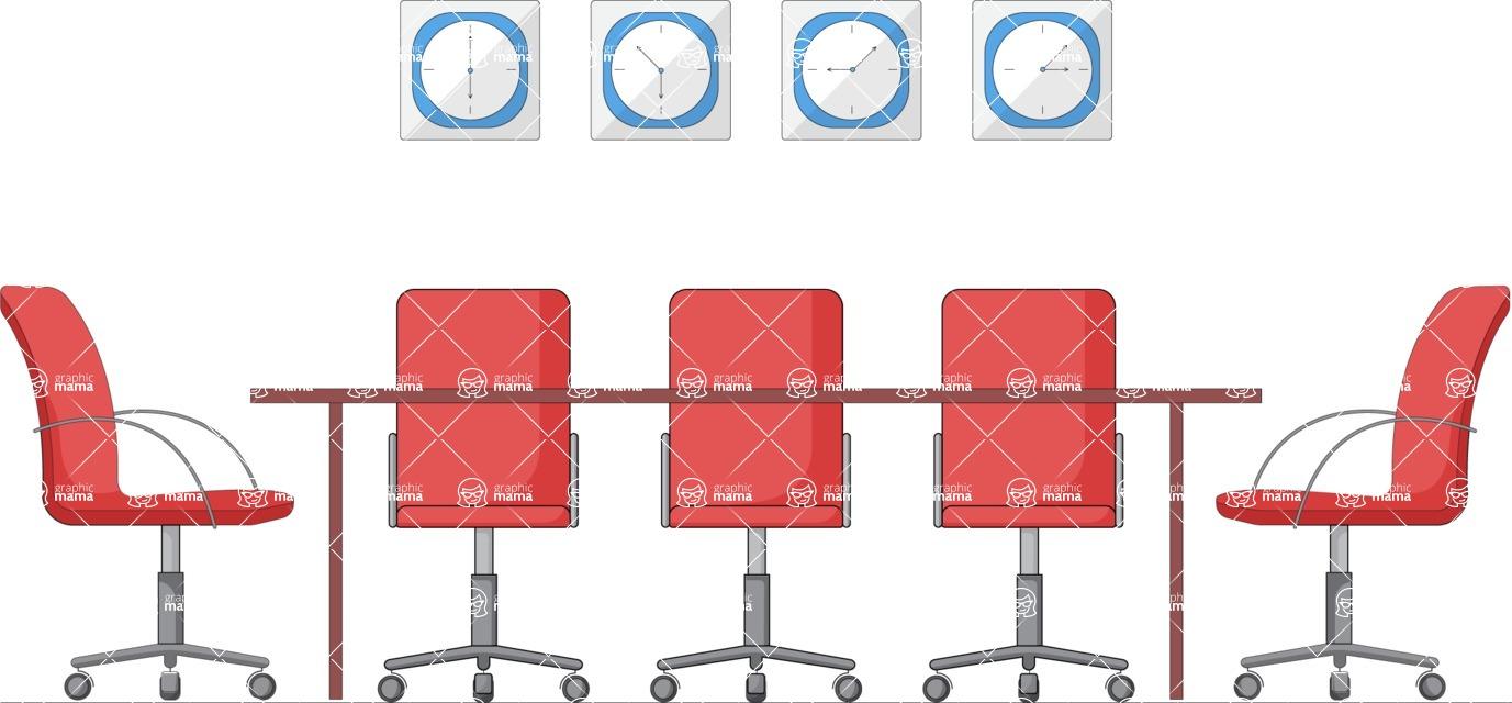 Vector Business Graphics - Mega Bundle - Conference Room Illustration