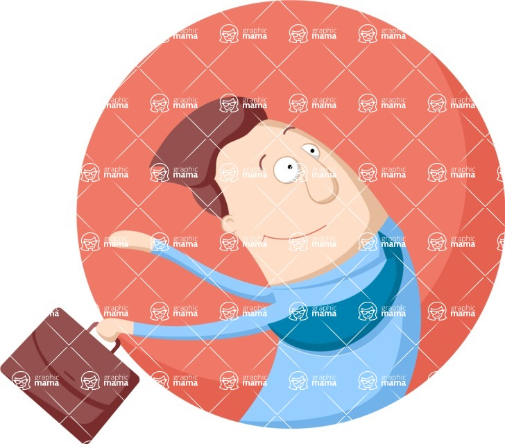 Vector Business Graphics - Mega Bundle - Businessman in a Rush Flat Illustration