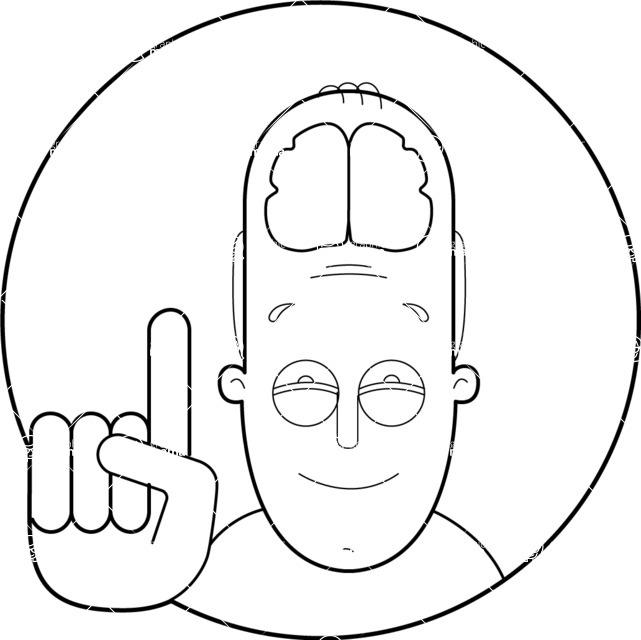 Vector Business Graphics - Mega Bundle - Outline Man with Visible Brain