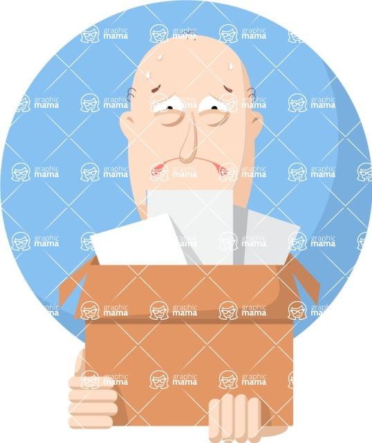 Vector Business Graphics - Mega Bundle - Fired Man Flat Illustration