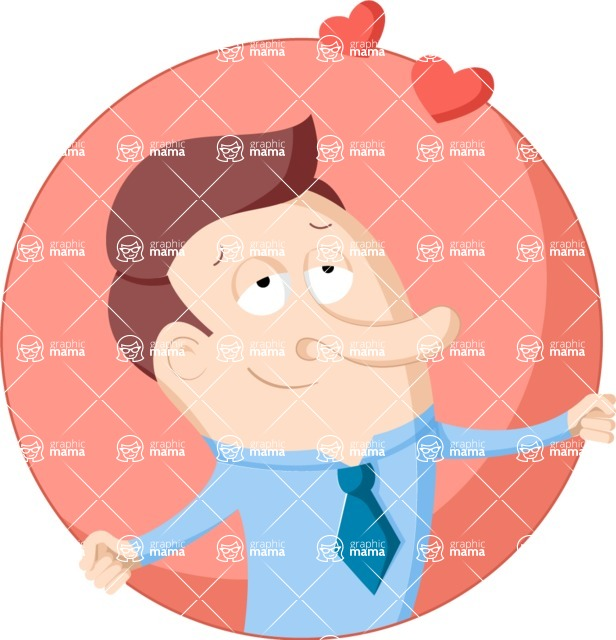 Vector Business Graphics - Mega Bundle - Businessman in Love Flat Illustration