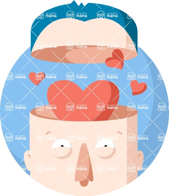 Vector Business Graphics - Mega Bundle - Man With a Heart-Shaped Brain