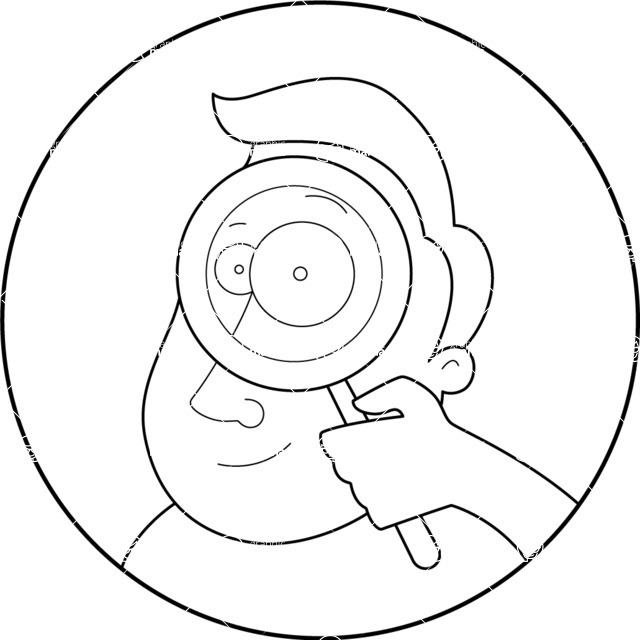 Vector Business Graphics - Mega Bundle - Outline Man With a Magnifier