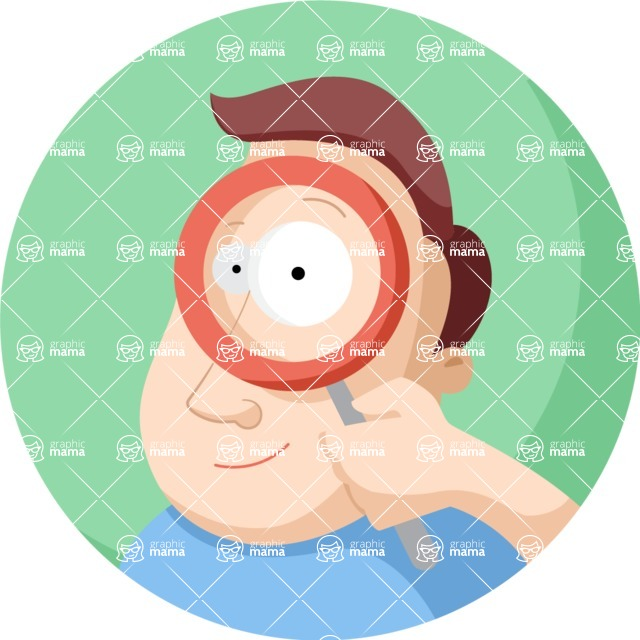 Vector Business Graphics - Mega Bundle - Man With a Magnifier Flat Illustration
