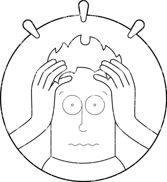 Vector Business Graphics - Mega Bundle - Shocked Man Outline