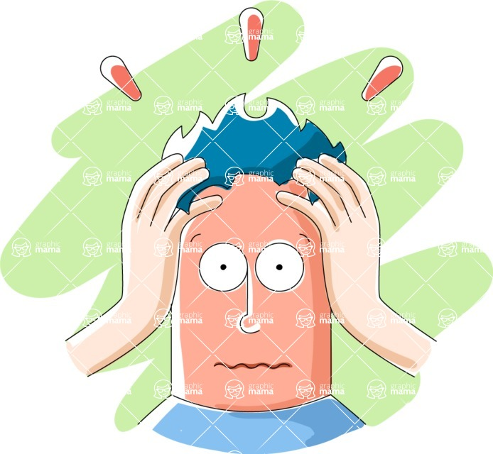 Vector Business Graphics - Mega Bundle - Stressed Man With Hands on Head