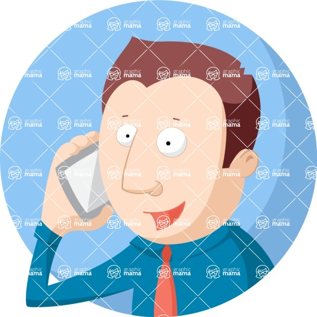 Vector Business Graphics - Mega Bundle - Businessman on the Phone Flat Illustration