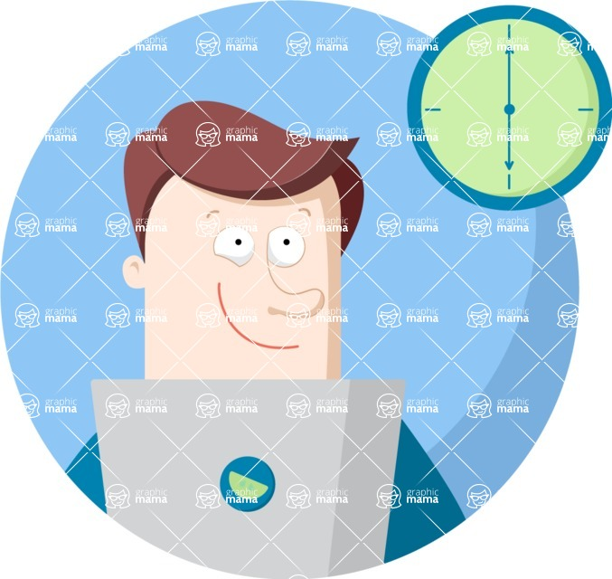 Vector Business Graphics - Mega Bundle - End of Workday Flat Illustration