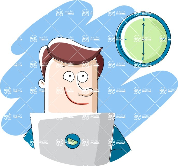 Vector Business Graphics - Mega Bundle - End of the Work Day Illustration