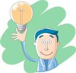 Vector Business Graphics - Mega Bundle - Businessman Holding a Light Bulb