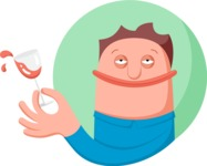 Vector Business Graphics - Mega Bundle - Man Spilling a Glass of Wine