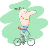 Vector Business Graphics - Mega Bundle - Businessman Riding a Bike
