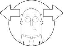Vector Business Graphics - Mega Bundle - Confused Man Outline