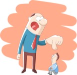 Vector Business Graphics - Mega Bundle - Boss Being Angry With Employee