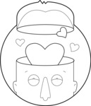 Vector Business Graphics - Mega Bundle - Man in Love Outline