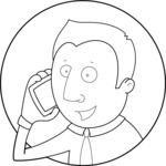 Vector Business Graphics - Mega Bundle - Outline Businessman on the Phone