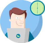 Business: Quest for Success - End of Workday Flat Illustration