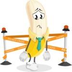 Peeled Banana Cartoon Vector Character AKA Mister Bananashake - Farming with Baby Carrots