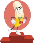 Peeled Banana Cartoon Vector Character AKA Mister Bananashake - The Best Fruit  Illustration with 1st Place